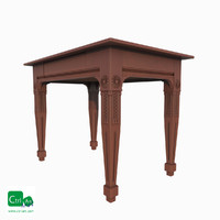 3d model antique table