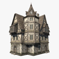 3ds fantasy medieval house