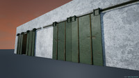 3d garage double door model