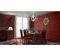 interior red 3d model