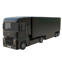 3d generic lorry trailer model