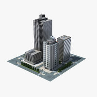 3d model city block cityscape 04