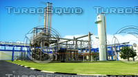 3d model gas treatment plant power