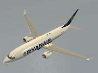 3d model b 737-800 ryanair
