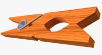 3d clothespin cloth pin