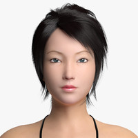 3d asian female model
