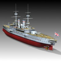 3d hms goliath 1898 world war model