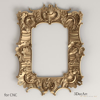 3D model of the frame in the Rococo style