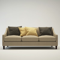 modern design 3-seater sofa 3d max