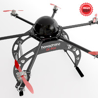 hexacopter drone 3d 3ds