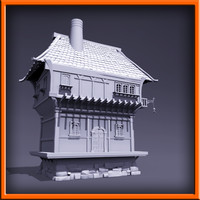 3d model medieval style house