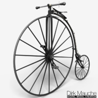 3dsmax penny farthing
