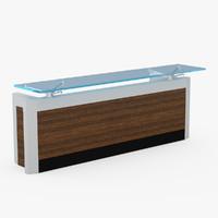reception desk 3d model