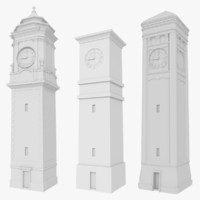 3d pack clock towers model