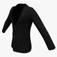 3d mens suit jacket