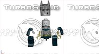 batman lego 3d model