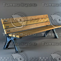 3ds max metal bench