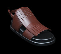 3d sandal leather