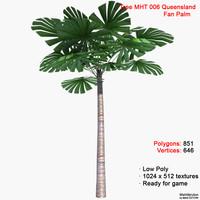 3dsmax palm queensland fan