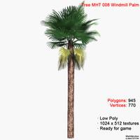 3d palm windmill tree model