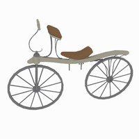 3d retro bicycle model