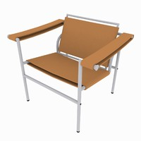 3d chair rendered scanline model