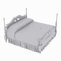 3d model bed size