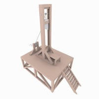 3d guillotine modeled model