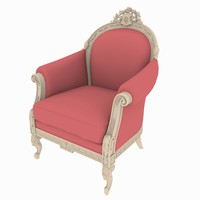 chair rendered scanline 3d model