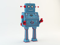 3d vintage robot