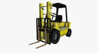 3d model of forklift old