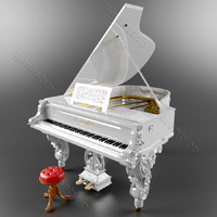 3d piano baroque model