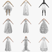Collection Of Wedding Dresses 9 in 1