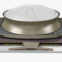 3d stadium mercedes benz superdome model