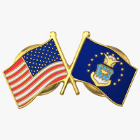 3ds max air force flag pin