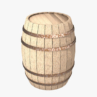 obj barrel wooden barrique