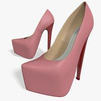 platform shoes c4d