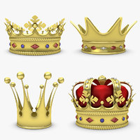 3d crown set