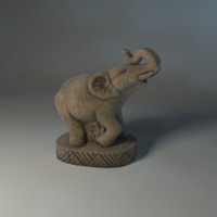 statue elephant 3d max