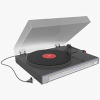 3d retro turntable model