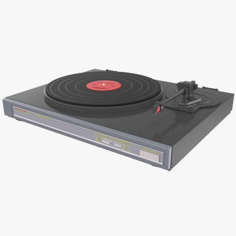 Retro Turntable 2 3d model 00.jpg
