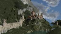 3d model castle landscape