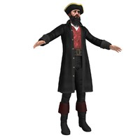 3d pirate captain model