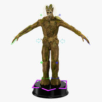 groot rigged 3d model