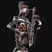 3d robot musician