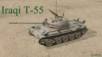 3d iraqi tank t55