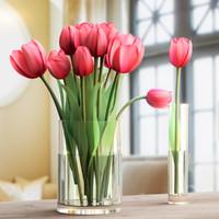 3d bouquet: tulips 3 1 model