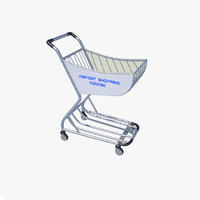 3d model airport shopping trolley