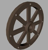 3ds max wooden wheel