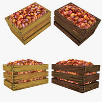 crate potatoes polys 3d obj